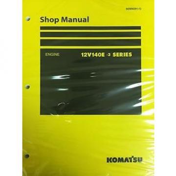 Komatsu 12V140E-3 Series Engine Factory Shop Service Repair Manual