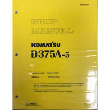 Komatsu D375A-5 Service Repair Workshop Printed Manual