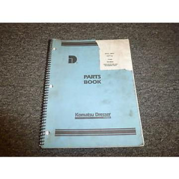 Komatsu Dresser 3600A Payhoe Loader Backhoe Parts Catalog Manual Manual SM3600A
