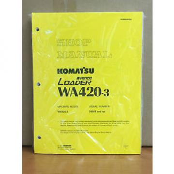 Komatsu WA420-3 Avance Wheel Loader Shop Service Repair Manual