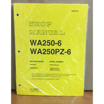 Komatsu WA250-6, WA250PZ-6 Wheel Loader Shop Service Manual (75001, 75160 & up)