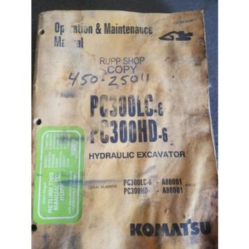 Komatsu operation and maintenance manual