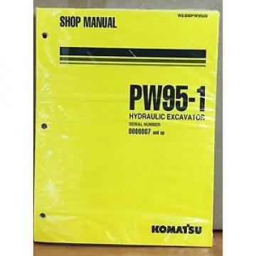 Komatsu Service PW95-1 Excavator Shop Manual NEW REPAIR