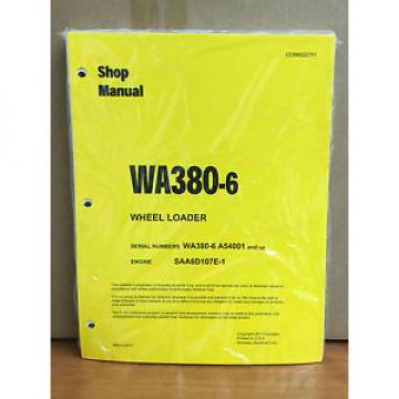 Komatsu WA380-6 Wheel Loader Shop Service Repair Manual (A54001 & up)