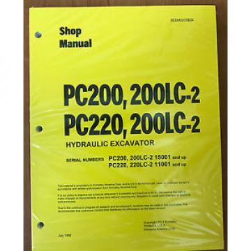 Komatsu Service PC200/PC200LC-2/PC220/LC-2 Manual
