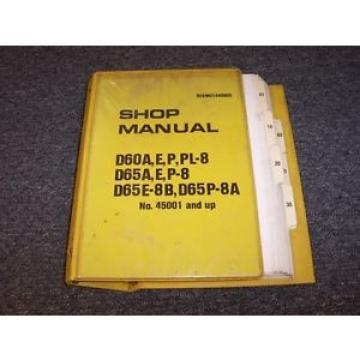 Komatsu D65E-9B D65P-8 D65P-8A Bulldozer Dozer Crawler Service Repair Manual