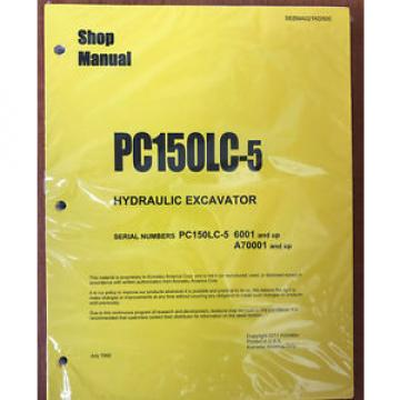 Komatsu PC150LC-5 Shop Service Repair Printed Manual