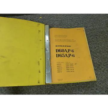 Komatsu D65A-6 D65P-6 Crawler Tractor Dozer Shop Service Repair Manual