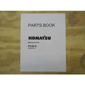 Komatsu PC20-6 mini excavator parts Manual