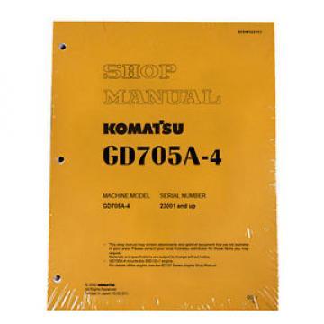 Komatsu Service GD705A-4 Series Mobile Grader Printed Manual