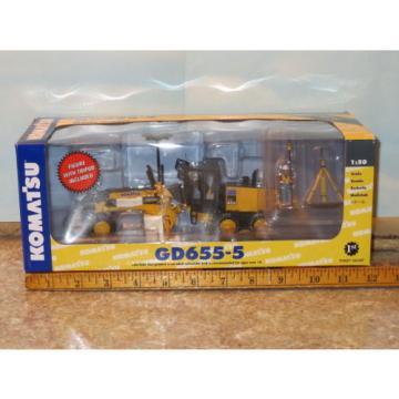 Komatsu GD655 Motor Grader w/Ripper & GPS Base First Gear 1/50 NIB