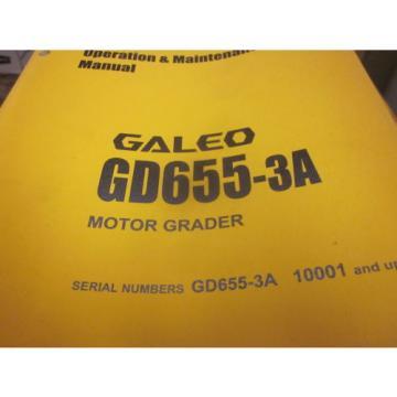 Komatsu GD655-3A Motor Grader Operation & Maintenance Manual s/n 10001-