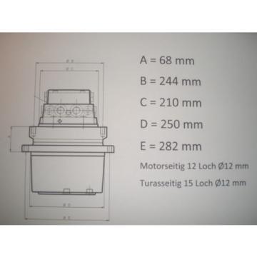 Endantrieb / Fahrmotor passend KOMATSU PC75
