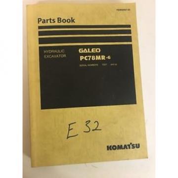 Komatsu Galeo PC78MR-6 Hydraulic Excavator Parts Manual Book Catalog