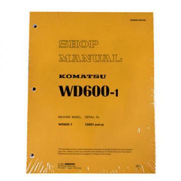 Komatsu Service WD600-1 Series Wheel Dozer Shop Manual