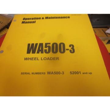 Komatsu WA500-3 Wheel Loader Operation & Maintenance Manual Year 2005