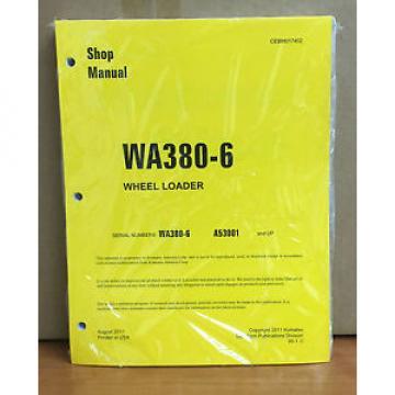 Komatsu WA380-6 Wheel Loader Shop Service Repair Manual