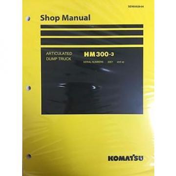 Komatsu HM300-3 Shop Service Manual Articulated Dump Truck