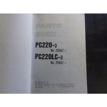 Komatsu PC220-3 and PC220LC-3 Parts Book    P02060030-03