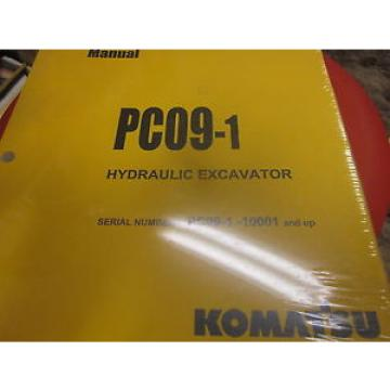 New Komatsu PC09-1 Hydraulic Excavator Operation & Maintenance Manual