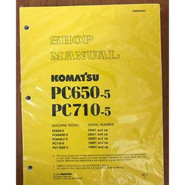 Komatsu Service PC650-5 PC710SE-5 PC650LC-5 PC710-5 PC650SE-5 Manual SHOP