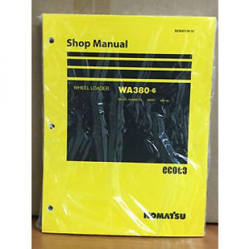 Komatsu WA380-6 Wheel Loader Shop Service Repair Manual (H65001 & up)