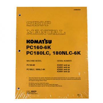 Komatsu Service PC160-6K, PC180LC-6K/NLC-6K Shop Manual