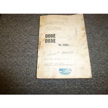 Komatsu D65E-6 Bulldozer Parts Catalog Manual Manual Book 24780