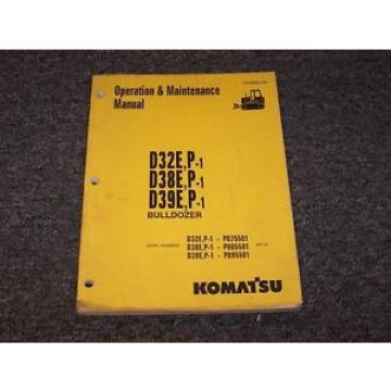 Komatsu D39E-1 D39P-1 Bulldozer Dozer Crawler Owner Operator Maintenance Manual