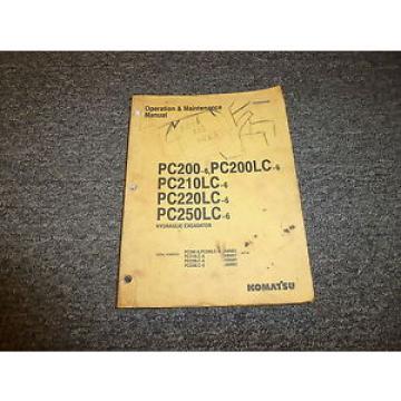 Komatsu PC200-6 PC200LC-6 PC210LC-6 Hydraulic Excavator Owner Operator Manual