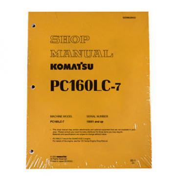 Komatsu Service PC160LC-7 Shop Repair Manual NEW