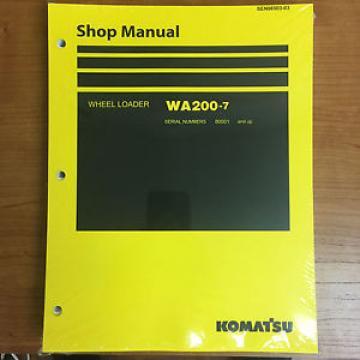 Komatsu WA200-7 Wheel Loader Shop Service Repair Manual