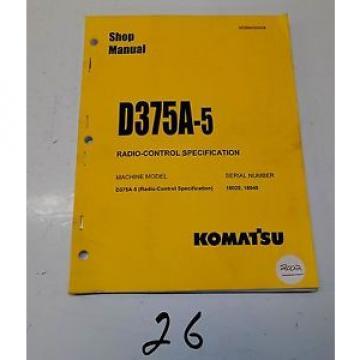 Komatsu D375A-5 Radio-Control Specification Service Printed Manual