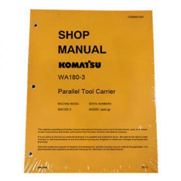 Komatsu WA180-3 Parallel Tool Service Repair Manual