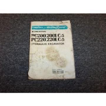 Komatsu PC220-5 PC220LC-5 Hydraulic Excavator Owner Operator User Guide Manual