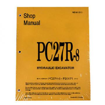 Komatsu Service PC27R-8 Excavator Shop Manual NEW #2