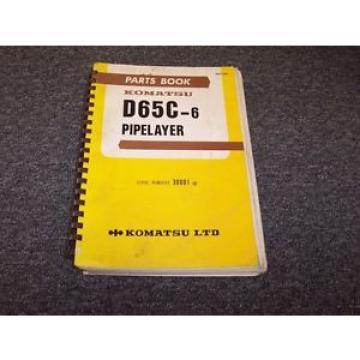 Komatsu D655C-6 Pipelayer Original Factory Parts Catalog Manual Guide 30001-UP