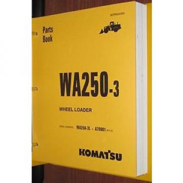 PARTS MANUAL FOR WA250-3L SERIAL A70000 KOMATSU WHEEL LOADER