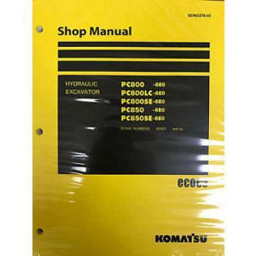 Komatsu PC800-8E0 PC800LC-8E0 PC800SE-8E0 PC850-8E0 PC850SE-8E0 Service Repair P
