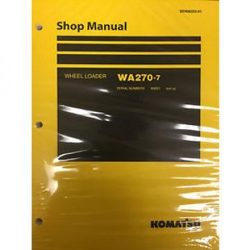 Komatsu WA270-7 Wheel Loader Shop Service Repair Manual 80001 and UP