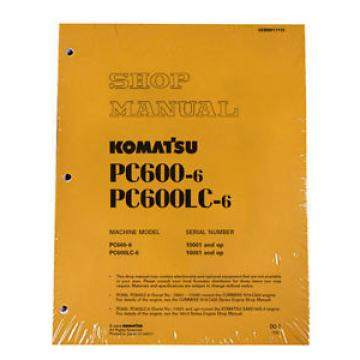 Komatsu Service PC600-6, PC600LC-6 Service Repair Manual