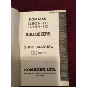 Shop Manual Komatsu D80A -12 D85A-12 Bulldozer