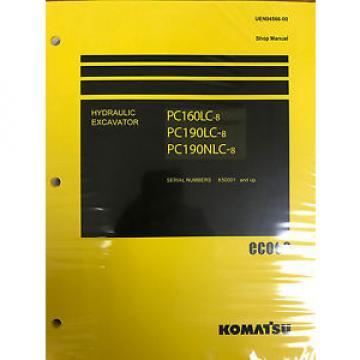 Komatsu PC160LC-8 PC190LC-8 PC190NLC-8 Service Repair Printed Manual