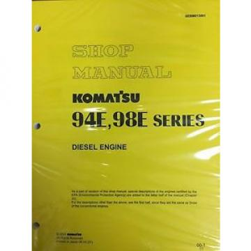 Komatsu 94E 98E Series Engine Factory Shop Service Repair Manual