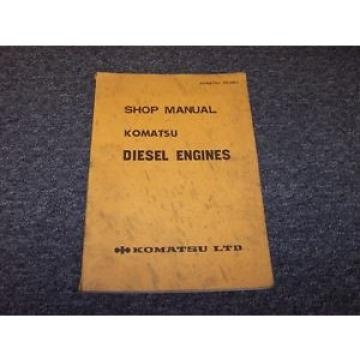 Komatsu 4D115-4 4D120-8 4D120-10 Diesel Engine Shop Service Repair Manual Guide