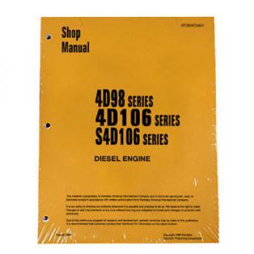 Komatsu Service Engines 4D98/4D106/S4D106 Yanmar Printed Manual