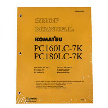 Komatsu Excavator Service PC160LC-7K, PC180LC-7K Shop Printed Manual