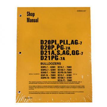 Komatsu Bulldozer D20P-7A, D21 A, Service Repair Manual