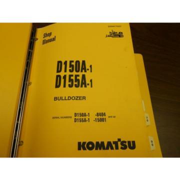 KOMATSU SHOP MANUAL - D150A-1 / D155A-1 BULLDOZER -1993