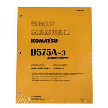 Komatsu D575A-3 Dozer Service Repair Workshop Printed Manual